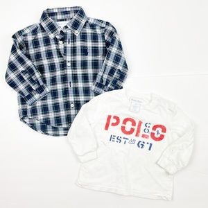 Ralph Lauren 6M Checkered Long sleeves with Top